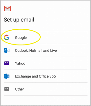 Adding emails to Gmail App