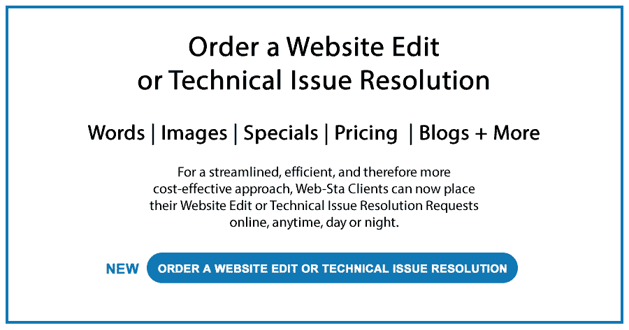 Advertisement Order a Website Edit or Technical Issue Resolution
