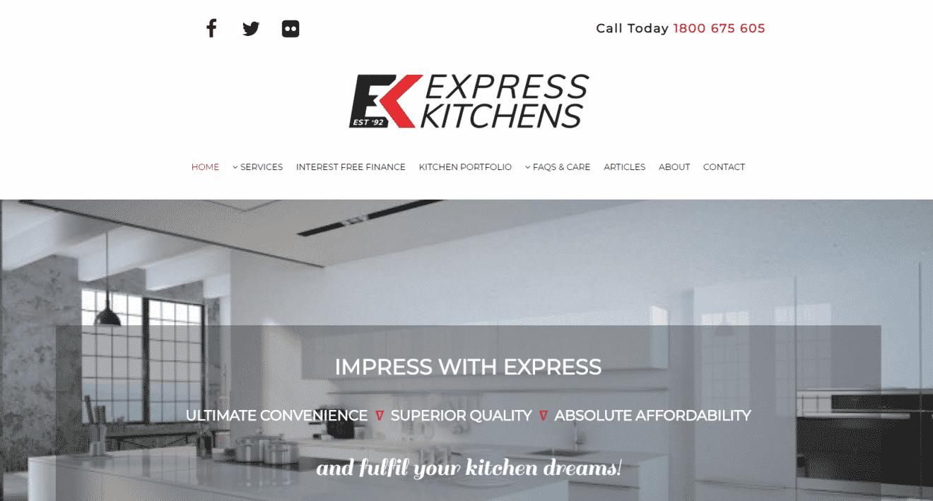 Express Kitchens Website After