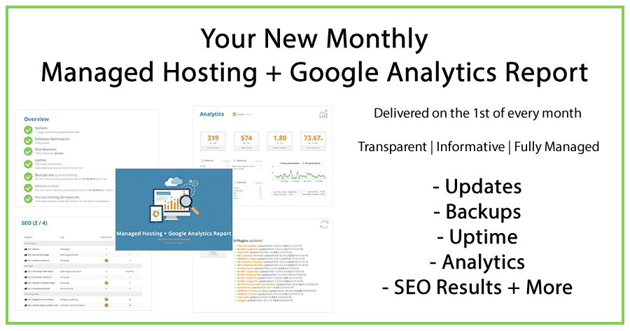 Announcement Managed Hosting + Google Analytics Reports