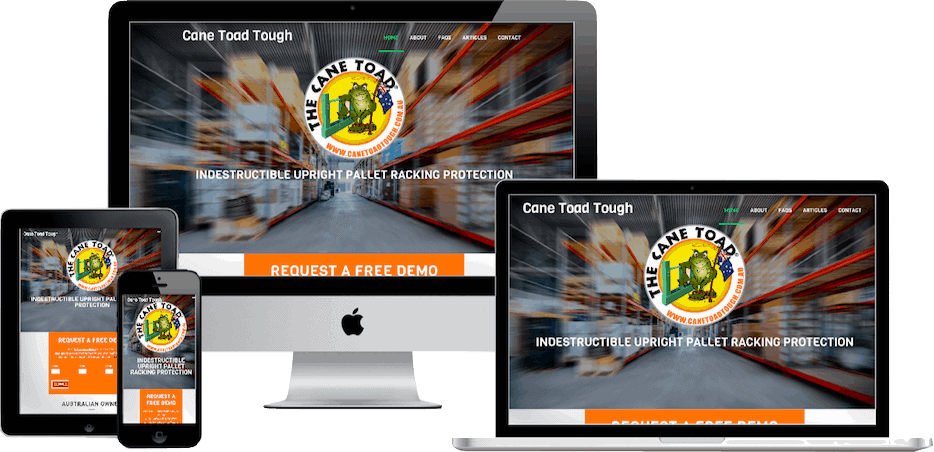 Website design and development for Canetoad Tough