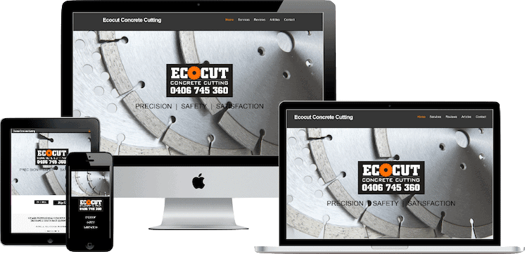 Web Design Australia for Concrete Cutting Business in Caboolture