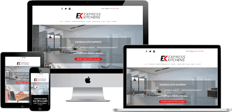 Web Design Package for Express Kitchens Brendale