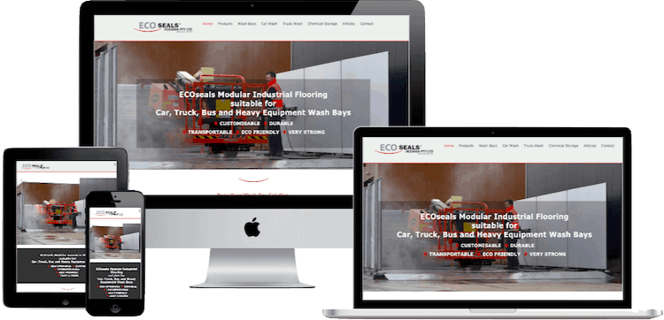 North Brisbane Web Design for Ecoseals Oceania