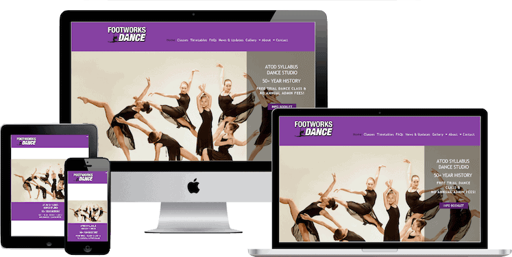 Dance Studio Website Design based in Morayfield