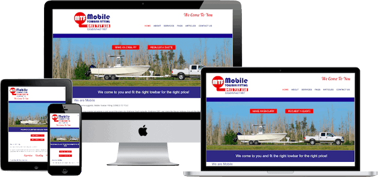 North Brisbane Web Design for Mobile Towbar Fitting