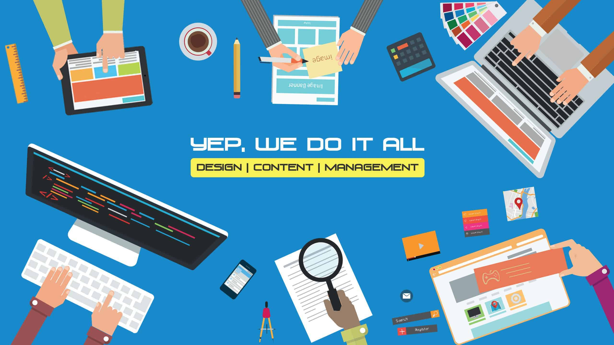 Web Design, Content Creation and Website Management