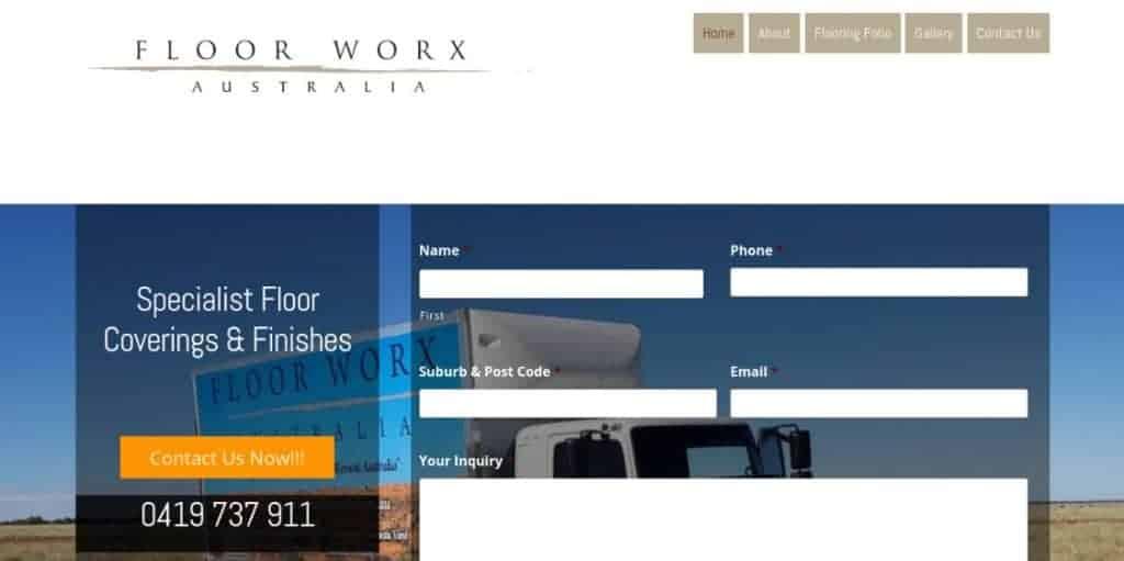 Flooring Business WordPress Web Design