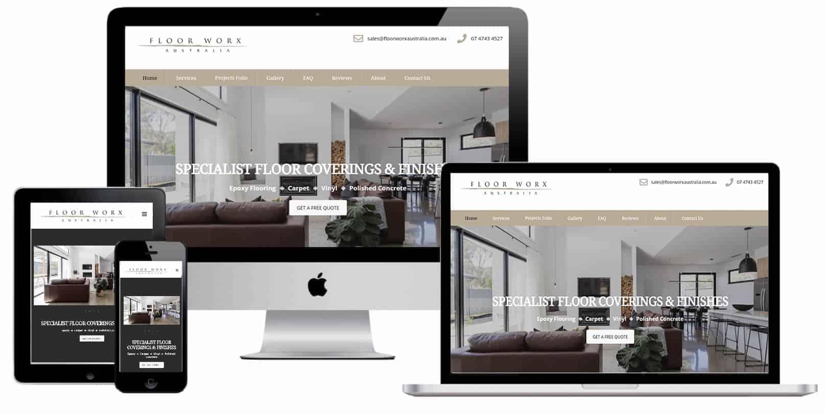 Flooring company Pro web design