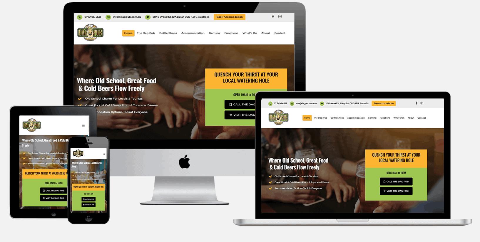 Website design for pubs