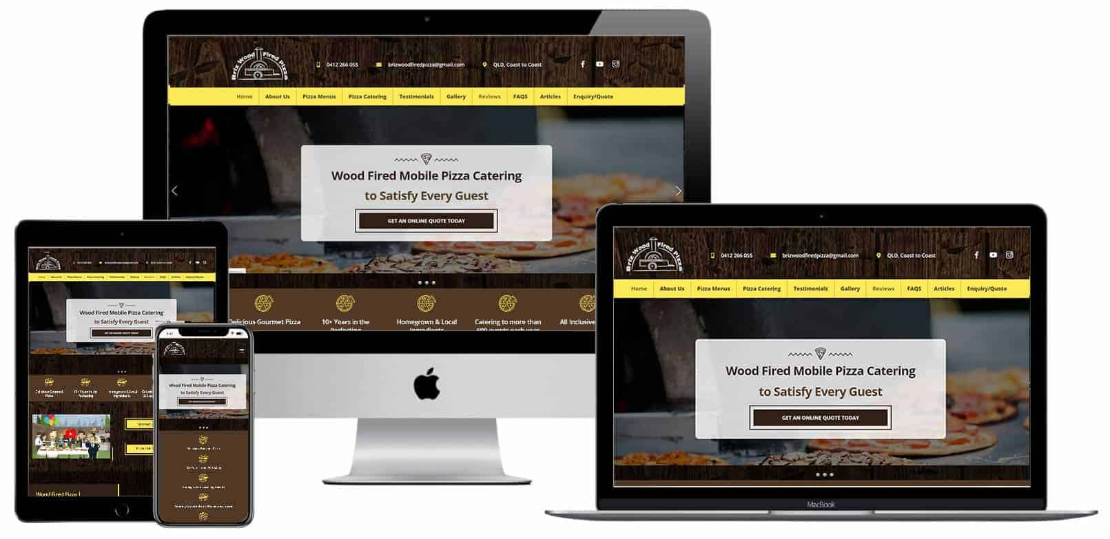 Briz Woodfired Pizza Website Design
