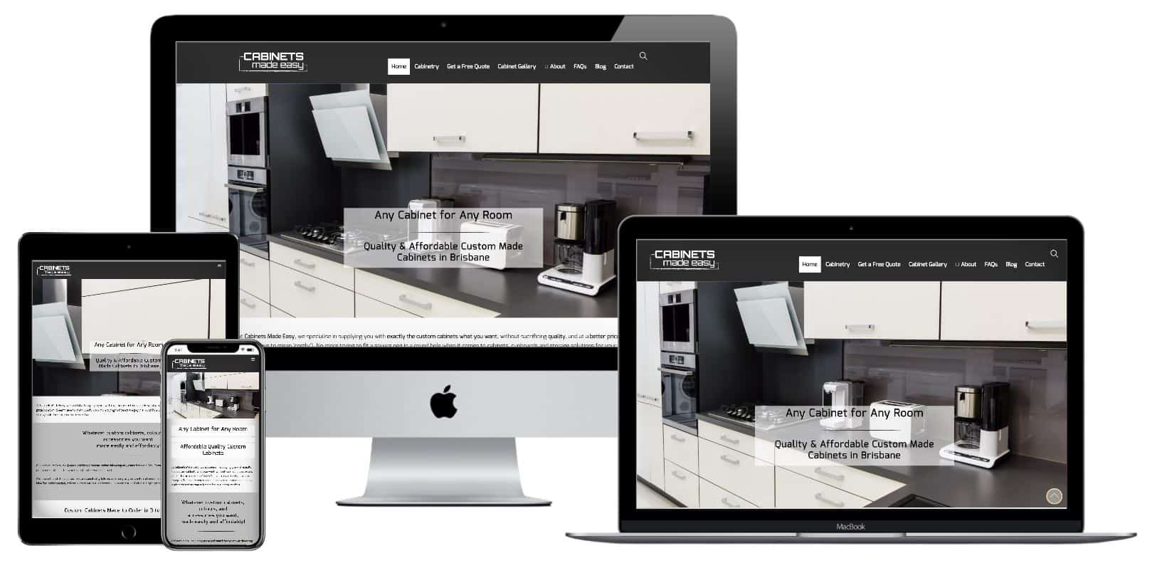 Web design for kitchen companies