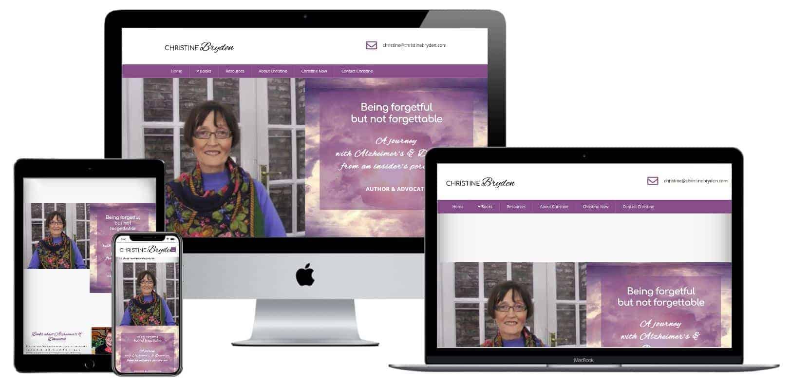 Published author website