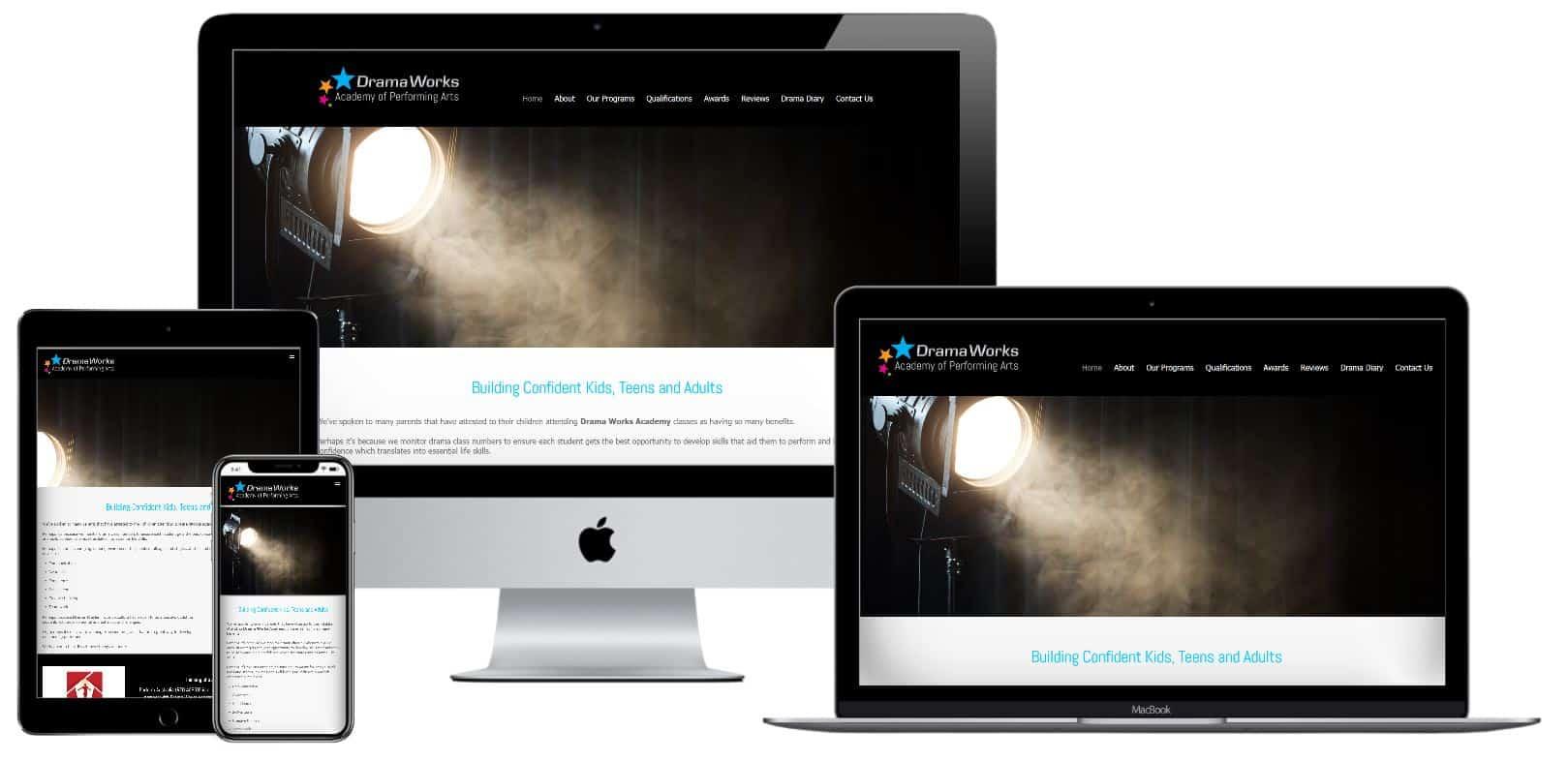 Drama school website design