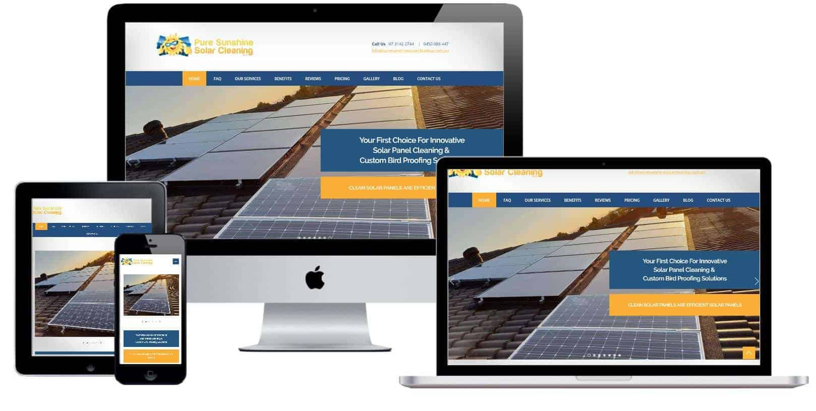 Web design for solar powered services providers