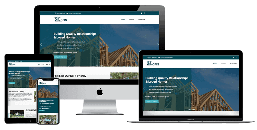 Rinofin Constructions Website Design