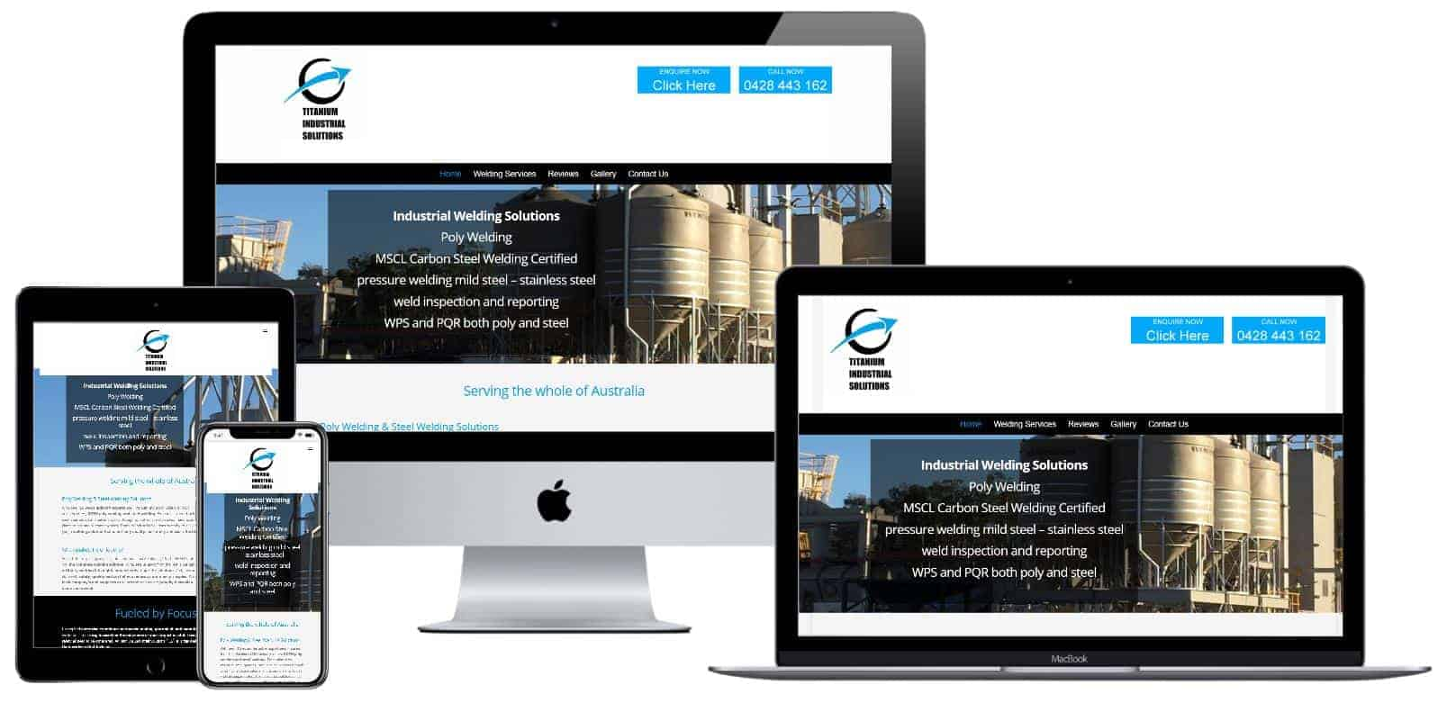 Web design for welding companies