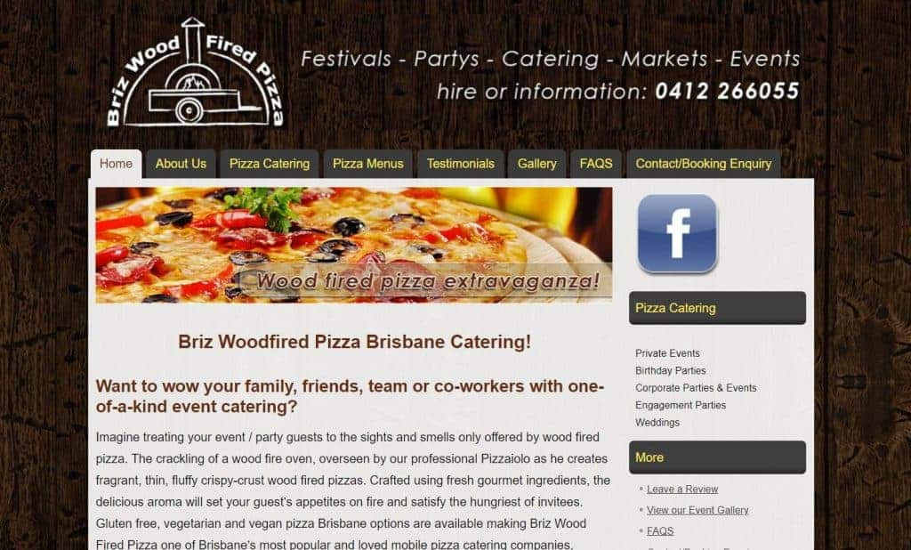 Event Catering WordPress Web Design