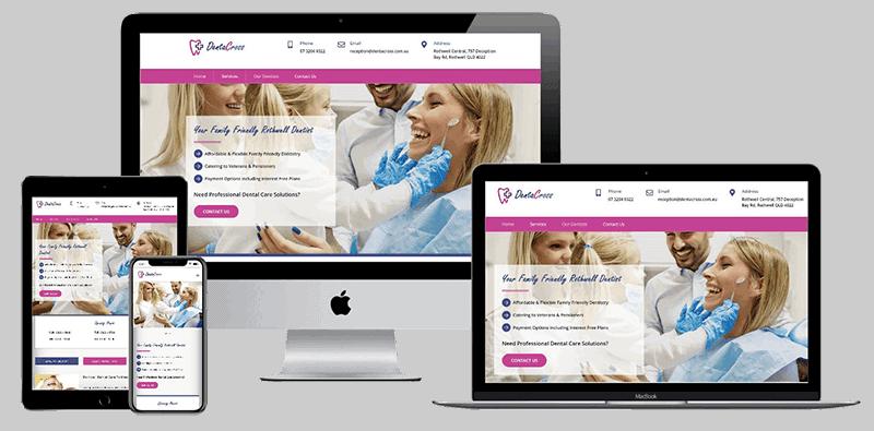 Pro web design for DentaCross Dentists Rothwell