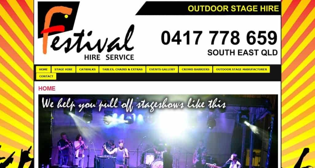 WordPress Website Design for Event Hire Companies