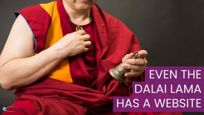 Even the Dalai Lama has a website