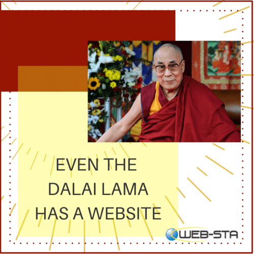 The Dalai Lama has a website