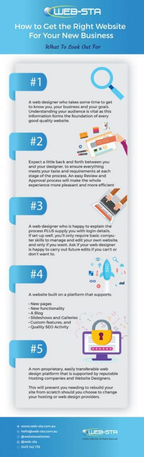 WEB-STA Web Design -Infographic New-Website for New Business