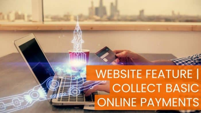 Website Feature Collect Basic Online Payments