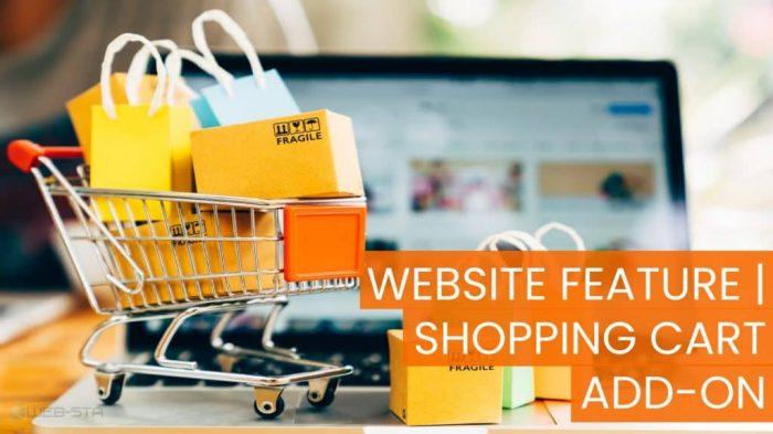 Website Feature Shopping Cart Add-on