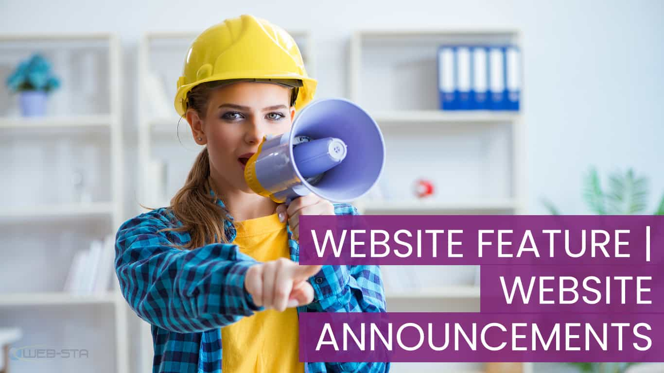Website feature | Website Announcement Edits