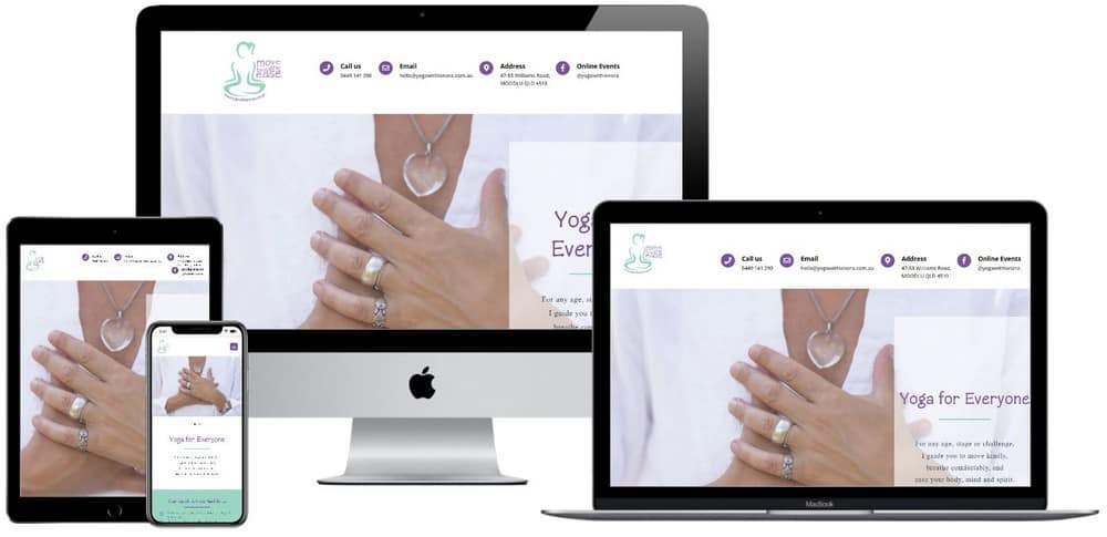 Yoga with Lenora Moodlu Web Design_web