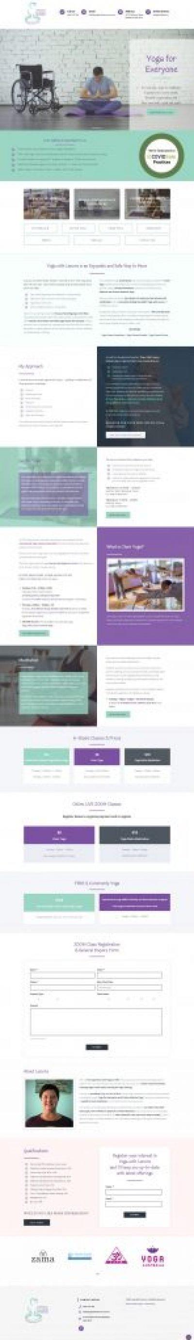 Yoga studio website designer Sunshine Coast