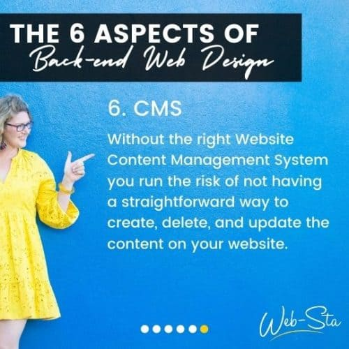website designers and back-end cms