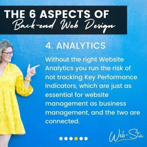 website designers and back-end analytics