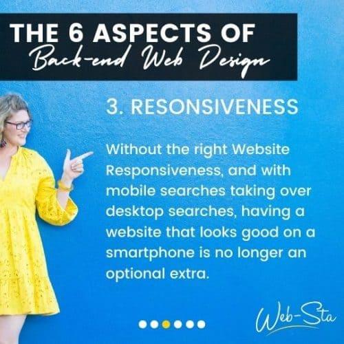 website designers and back-end responsiveness