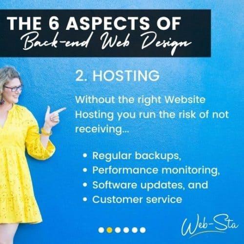 website designers and back-end hosting