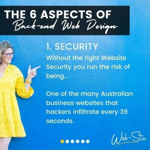 website designers and back-end security