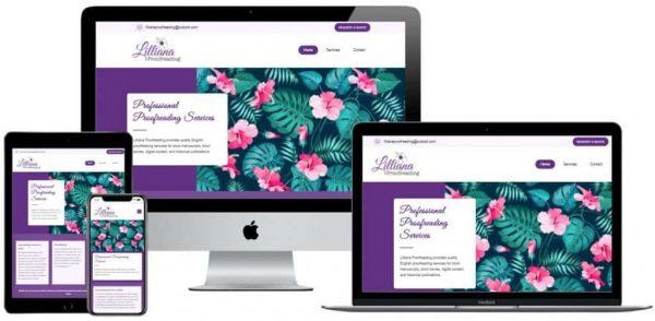 Lilliana Proofreading Website